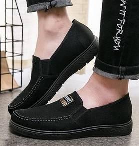 SA0261 Smart Slip On Low-Top Black Loafer Shoes