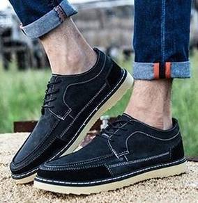 S0238 Black Retro Dock Casual Business Boat Shoes