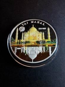 Mongolia Taj Mahal Silver coin 2008