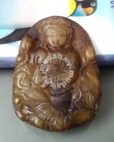 ABPJ-K014 Old Jade Kwan Yin Pendant Necklace