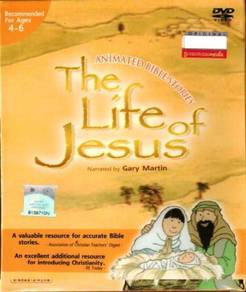 DVD Animated Bible Stories The Life Of Jesus Narra