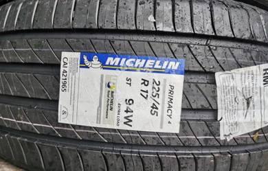 Tayar Michelin Primacy 4 225 45 17 Tyre New 2020
