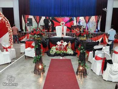 Indian Wedding Deco - Red N Black Theme
