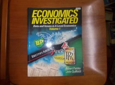 Economics Investigated Volume 1