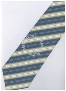 ELB11 Blue Yellow White Striped Formal Neck Tie