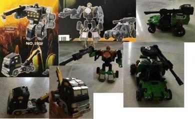 2 robot transformer mainan kanak budak