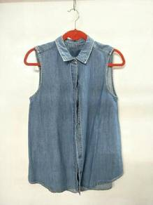 H&M; Denim Sleeveless Top