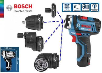 Bosch FlexiClick 5-in-1 Cordless Drill Driver Syst