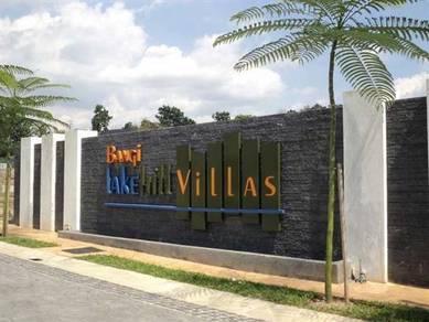 Corner lot bangi lakehill villas semi - d