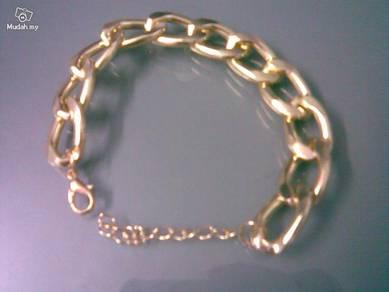 ABBGM-C002 Gold Metal Chain Bracelet - 15mm Width