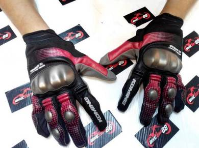 Komine GK186 Glove With Knuckle Guard