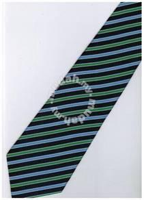 EDB11 Blue Black Green White Strip Formal Neck Tie