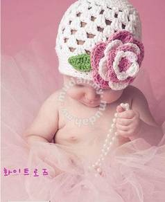 (WJ 0107) New Top Baby Precious Knit BB Hat