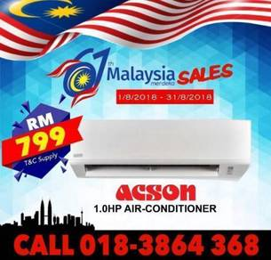NEW Aircond Acson 1.0hp 799 BEST BUY