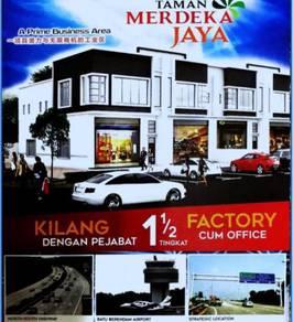 New Launch 1.5 Factory Cum Office Taman Merdeka Jaya, Batu Berendam