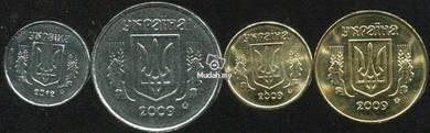 UKRAINE COINS 4 pcs in set unc