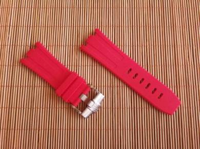 AUDEMARS PIGUET 28 mm Pink Rubber Watch Strap