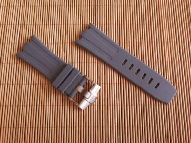 AUDEMARS PIGUET 28 mm Grey Rubber Watch Strap