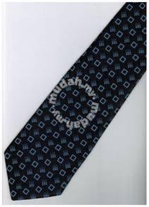 EDB21 Blue Black Box Striped Formal Neck Tie