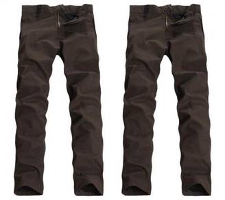 0454 Army Green Straight Cut Formal Casual Pants