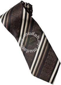 EBR4 Brown Khaki Quality Striped Formal Neck Tie