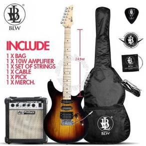 BLW 24Fret Electric Guitar Novisa + 10watt Amp