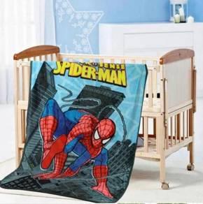 SPIDERMAN (A) Selimut Fleece Blanket Bigger 1.5X2M