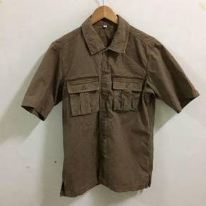 Uniqlo Double Pocket Shirt Size M Brown