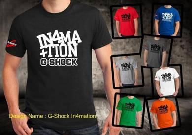 Baju T-Shirt G-SHOCK IN4MATION NSQ436 siap poslaju