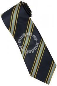 EDB13 Blue Gold Quality Striped Formal Neck Tie