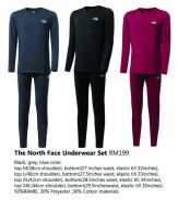 The North Face Underwear Full Set