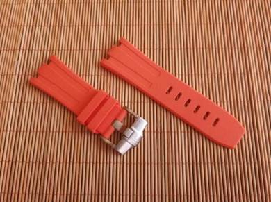 AUDEMARS PIGUET 28 mm Orange Rubber Watch Strap