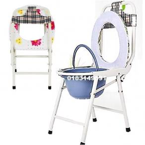 Potty Toilet Seat Commode Chair + Backrest (B)