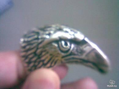 ABRSM-E004 Large Eagle Silver Metal Ring Size 10