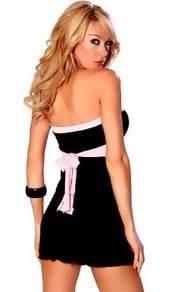 CW052 Black Tube Club Wear Minidress Belt