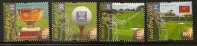 Mint Stamp World Cup Golf Trophy Malaysia 1999