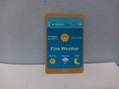 Magnetic Sticker Weather Forecast