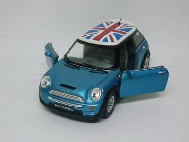 Mini Cooper S England top 1/28 Model - Light Blue