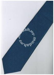 BU9 Blue Top Quality Solid Formal Neck Tie