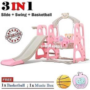 Playground Slide + Swing + Basketball + Music Box