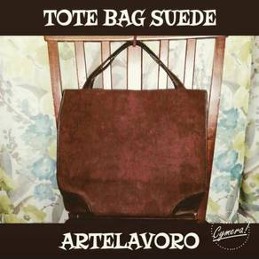 Tote Bag Suede Leather ArteLavoro