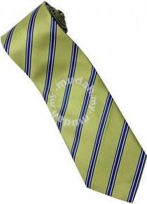 EG1 Apple Green Blue White Striped Formal Neck Tie