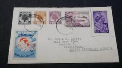 Antik Cover Sungei PATANI USA 1954 No 2095 RARE