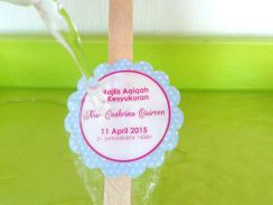 Print Sticker Kahwin Waterproof Kalis Air