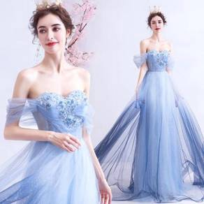 Blue ombre evening prom wedding dress gown RB2054
