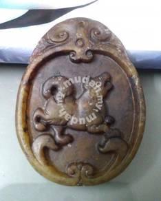 ABPJ-D084 Old Jade Dog Zodiac Pendant Necklace