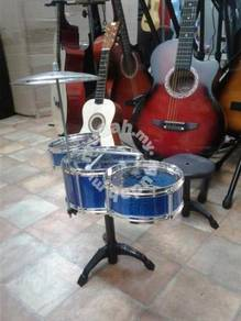 Drum Set for toldlers (Blue) : With stool