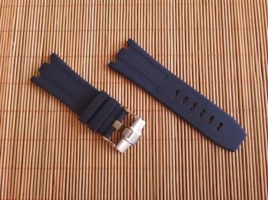 AUDEMARS PIGUET 28 mm Navy Blue Rubber Watch Strap