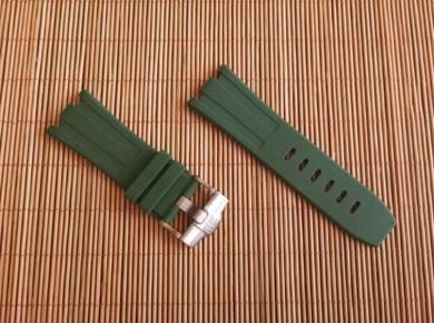 AUDEMARS PIGUET 28mm Army Green Rubber Watch Strap
