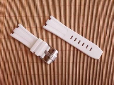 AUDEMARS PIGUET 28 mm White Rubber Watch Strap